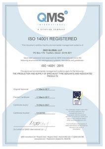 OKO 14001 Certificate