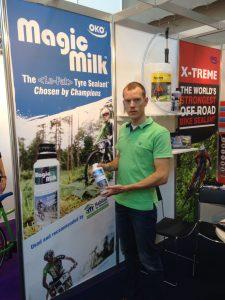 Maarten Kemperman, Habitat team manager, with OKO Magic Milk™