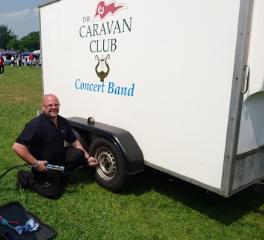Gary installs OKO into Caravan Club's trailer