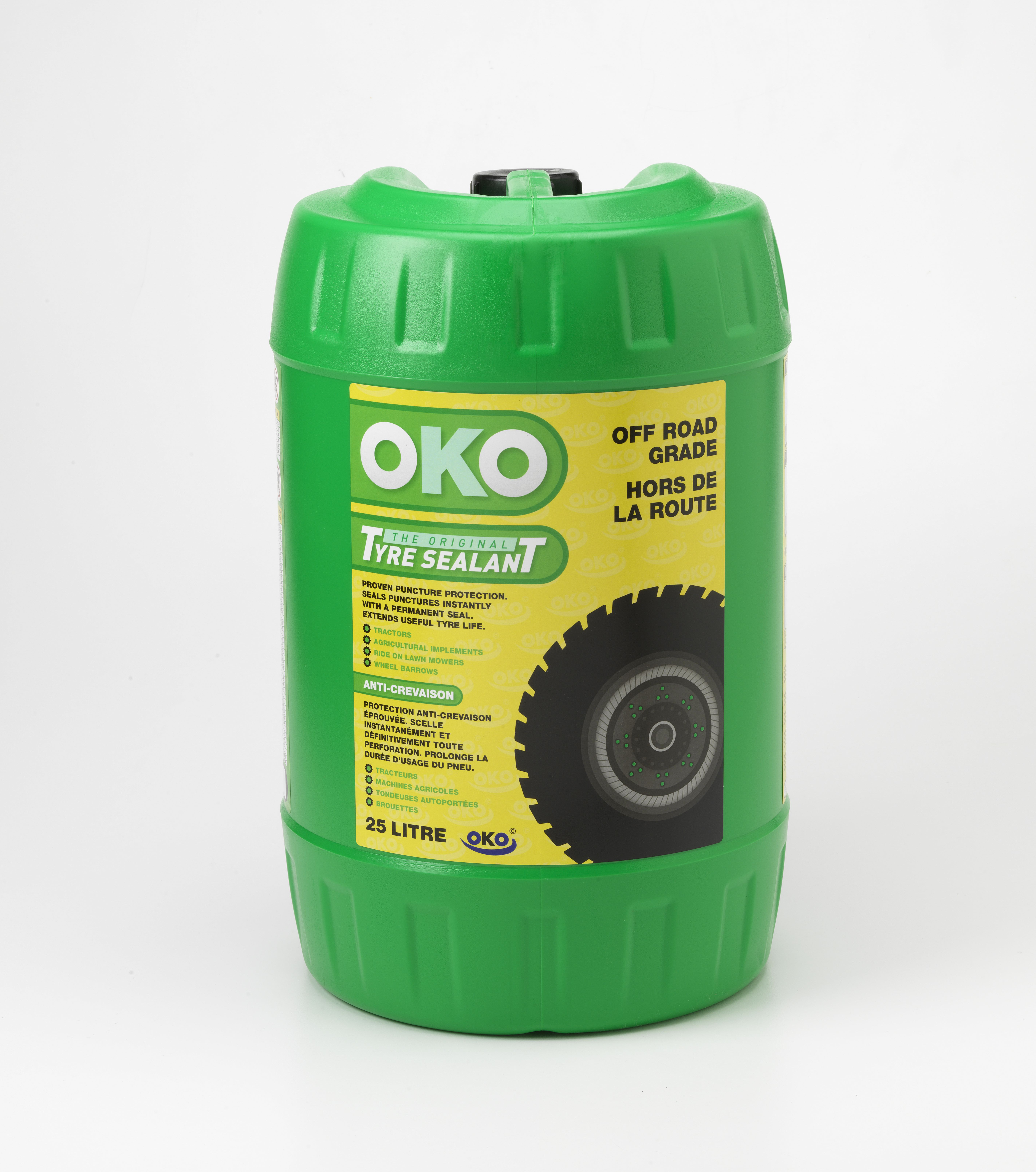 OKO Off Road tyre sealant in drums is designed for tough conditions